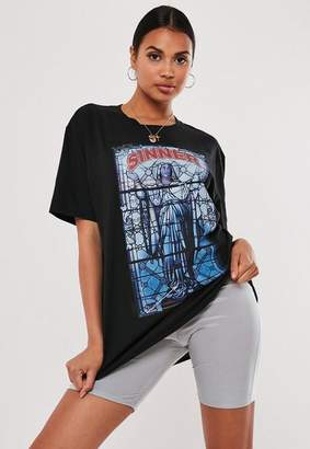 Missguided Black Graphic T Shirt