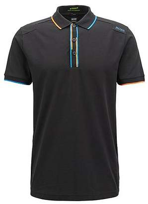 HUGO BOSS Slim-fit polo shirt with shifted stripes