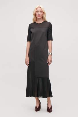 Cos SHEER-PANELLED LONG DRESS
