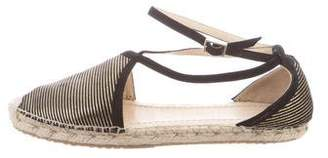 Jimmy Choo Striped Espadrille Flats