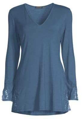 Natori V-Neck Cotton Sleepshirt