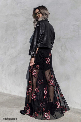 FOREVER 21+ Floral Embroidered Maxi Skirt $22.90 thestylecure.com