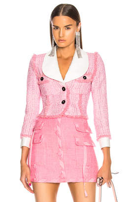 Alessandra Rich Lurex Tweed Mini Jacket