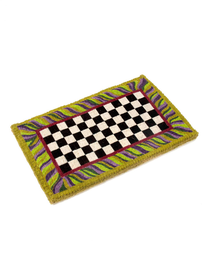 Mackenzie Childs MacKenzie-Childs Courtly Check Entrance Mat