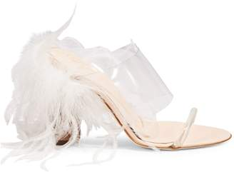 Brother Vellies Bianca Faux-Feather Mules