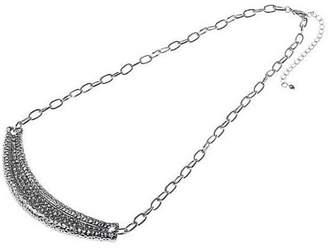 Factory The Jewellery Silver and Crystal Necklace of 25.8cm