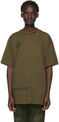 Off-White Off White Green Stencil Over T-Shirt