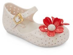 Baby's Daisy Perforated Jelly Mary Jane Flats $60 thestylecure.com