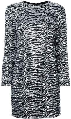 Saint Laurent sequin embellished shift dress