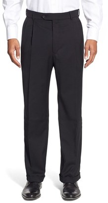 Men's Ballin Pleated Solid Wool Trousers $195 thestylecure.com