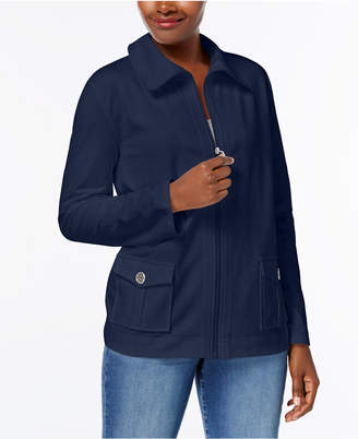 Karen Scott French Terry Active Jacket, Created for Macy's