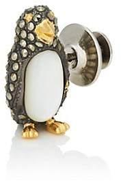Jan Leslie Men's Mixed-Gemstone Penguin Lapel Pin - Black