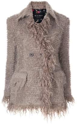 Etro fluffy buttoned jacket
