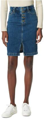 Joe's Jeans Joe Jeans Exposed-Button Pencil Jean Skirt