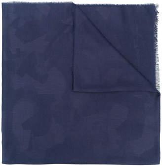 Salvatore Ferragamo camouflage print scarf