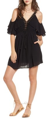 Women's Band Of Gypsies Cold Shoulder Dress $79 thestylecure.com