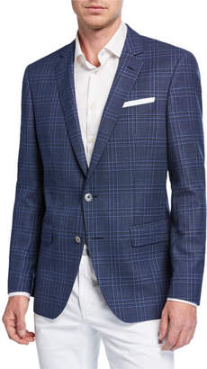 BOSS Men's Slim Fit Plaid Wool Sport Coat