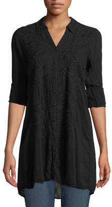 Johnny Was Paisley Button-Front Easy Tunic