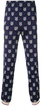 Gucci tiger head-print joggers