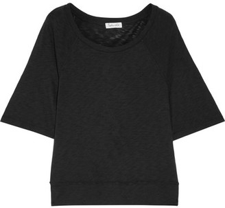 Splendid - Slub Supima Cotton And Micro Modal-blend T-shirt - Black $90 thestylecure.com