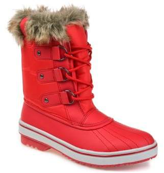 Brinley Co. Womens Lined Lace-up Snow Boot