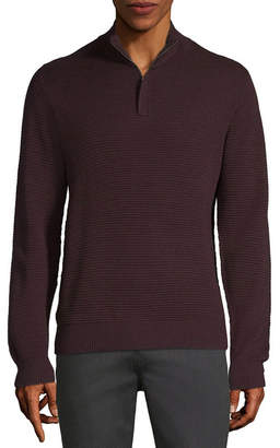 AXIST Axist Long Sleeve Quarter-Zip Ottoman Sweater