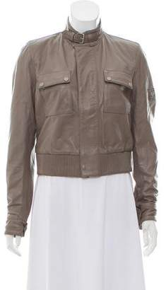 Belstaff Zip-Up Leather Jacket w/ Tags