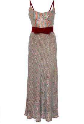 Markarian Exclusive Candystripe Sequin Corset Dress