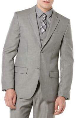 Perry Ellis Big and Tall Textured Jacket