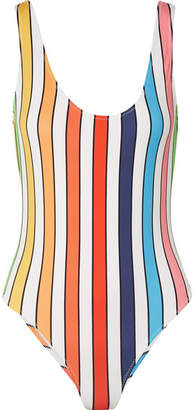 Caroline Constas Aristi Striped Swimsuit - White