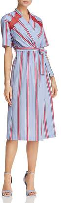 Sandro Mellow Striped Wrap Dress - 100% Exclusive