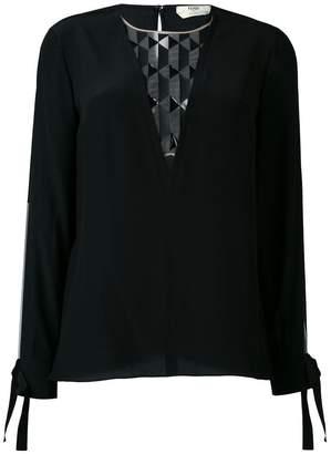 Fendi sheer panel blouse