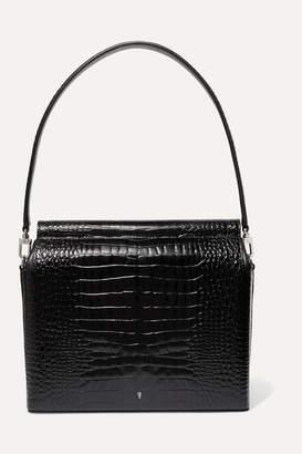 Gu_de - Duet Croc-effect Leather Tote - Black