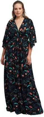 Theory White Label Long Caftan Dress - Vine, Plus Size