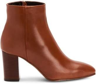 Aquatalia Florita Polished Leather Ankle Booties