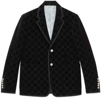 Gucci Palma GG velvet jacket