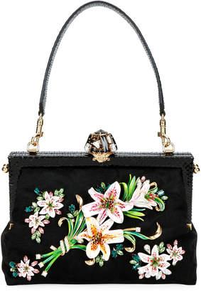 Dolce & Gabbana Floral Clasp Shoulder Bag