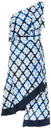Tufi Duek one shoulder printed dress