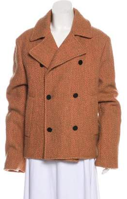 3.1 Phillip Lim Herringbone Tweed Jacket Tan Herringbone Tweed Jacket