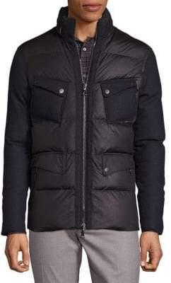 John Varvatos Long Sleeve Hooded Fill Jacket