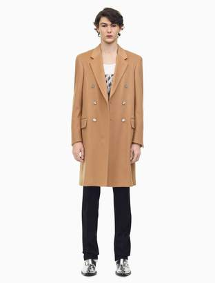 Calvin Klein double breasted overcoat in wool