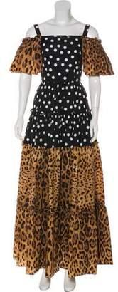 Dolce & Gabbana Cutout Maxi Dress Black Cutout Maxi Dress