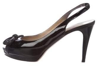 Valentino Patent Leather Slingback Sandals