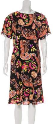 Etro Short-Sleeve Midi Dress