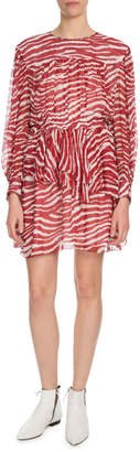 Etoile Isabel Marant Java Printed Draped Short Dress