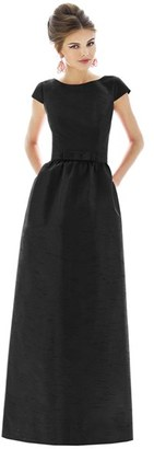 Women's Alfred Sung Cap Sleeve Dupioni Full Length Dress $218 thestylecure.com