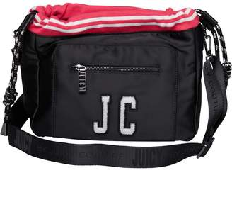 Juicy Couture Juicy By Womens Tara Slouchy Crossbody Bag Black Satin