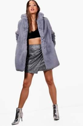boohoo Kayla Luxe Faux Fur Coat