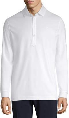 J. Lindeberg Golf Olof Tx Peached Long Sleeve Polo