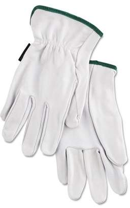 MCR Safety Grain Goatskin Driver Gloves, White, Medium, 12 Pairs -MPG3601M